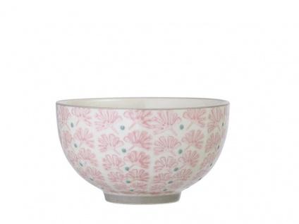 Bloomingville Schale MAYA Keramik Schüssel 350ml Geschirr Müslischale creme rosa