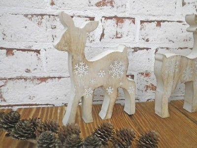 Deko Aufsteller Reh Lisbeth 16 cm Holz Weihnachtsdeko Weihnachten