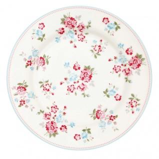 Greengate Teller SONIA Weiß Rot 20 cm Porzellan Geschirr Kuchenteller Dessertteller