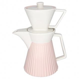 Greengate Kaffeekanne ALICE Rosa mit Filter Everyday Geschirr PALE PINK Kanne