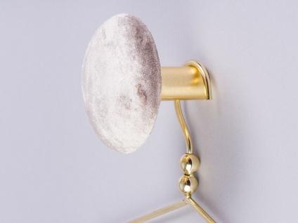 Cozy Living Kleiderhaken HELENE Samt Grau Gold 10 cm Garderobenhaken