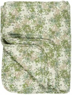 IB Laursen Quilt Grün. Beige und Braun Gemustert Decke Tagesdecke 130x180 cm - Vorschau