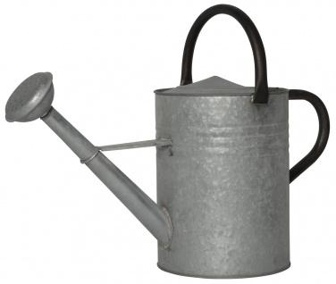 IB Laursen Gießkanne Zink 11 Liter mit 2 Griffen Grau Metall Gartengießkanne
