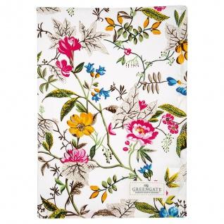 Greengate Geschirrtuch ELLEN Weiß bunte Blumen Baumwolle 50x70 cm Handtuch