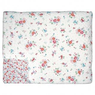Greengate Quilt BELLE Weiß 140x220 Tagesdecke Baumwolle Decke Überwurf