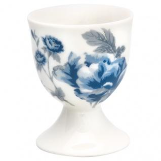 Greengate Eierbecher CHARLOTTE Weiß BLUMEN Blau Porzellan Geschirr