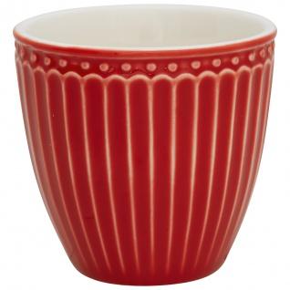 Greengate Mini Latte Cup Becher ALICE ROT Everyday Geschirr 7x7 cm