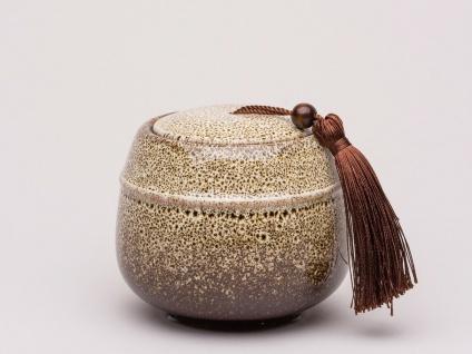 Bloomingville Dose Keramik mit Deckel braun 9 cm 600 ml