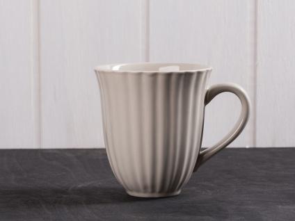 IB Laursen MYNTE Becher Rillen Beige LATTE Keramik Geschirr Tasse 250 ml