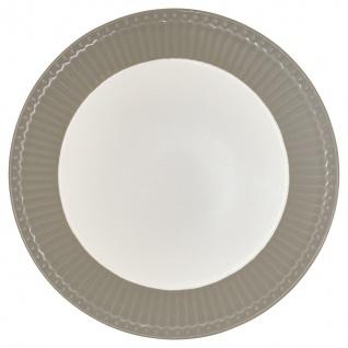 Greengate Teller ALICE Grau 23 cm Kuchenteller Everyday Geschirr WARM GREY