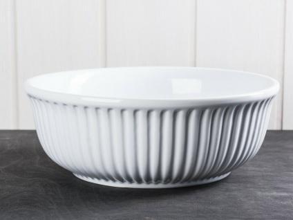 IB Laursen MYNTE Servierschale 23 cm Weiß Keramik Geschirr Schüssel PURE WHITE