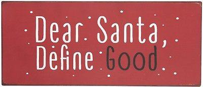 IB Laursen Metallschild - Dear Santa. Define Good - Metallschild Kühlschrankmagn