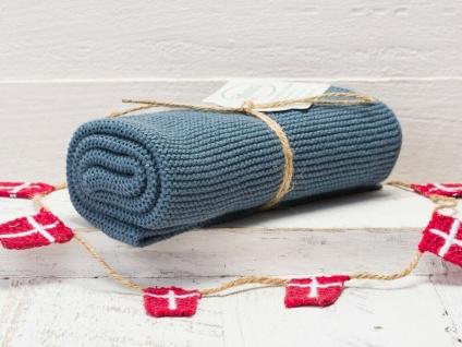 Solwang Küchentuch RUSTIKALES BLAU gestrickt Putztuch Geschirrtuch Handtuch