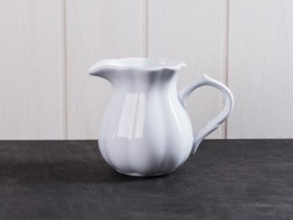 IB Laursen MYNTE Kanne 0.45 Liter Weiß Keramik Geschirr PURE WHITE Krug Karaffe
