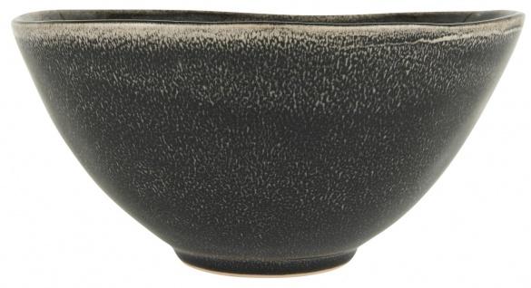 IB Laursen Schale DUNES Schwarz ANTIQUE BLACK Keramik Geschirr Schüssel 2000 ml