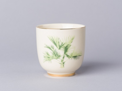 Bloomingville Becher ARUBA mit Palme Keramik Geschirr Tasse Teetasse