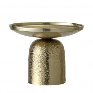 Bloomingville Kerzenhalter Gold Aluminium Kerzenständer Rund Höhe 10 cm D 13