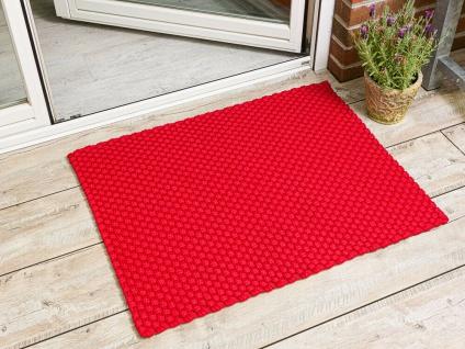 PAD Fussmatte UNI ROT 72x92 Matte Outdoor Teppich Pad Concept Design Badematte