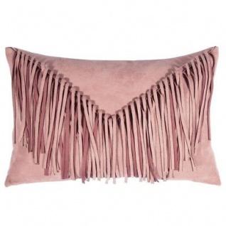 Pad Kissen Bonanza rosa Leder Optik Fransen Kissenhülle Wild West dusty pink Kis
