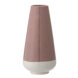 Bloomingville Vase rosa creme Blumenvase Keramik 22 cm hoch