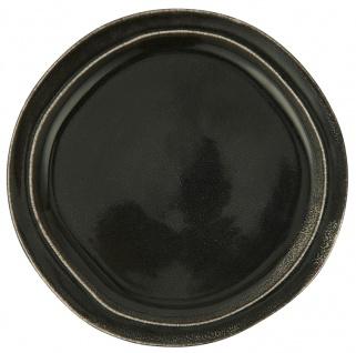 IB Laursen Essteller DUNES Schwarz ANTIQUE BLACK Keramik Geschirr Teller 28 cm