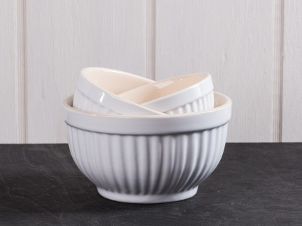 IB Laursen MYNTE Schalensatz Mini Weiß 3er Set Keramik Schüsseln PURE WHITE
