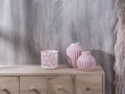 Bloomingville Votive Kerzenhalter Porzellan weiß/rosa Teelicht Kerzen Halter aus