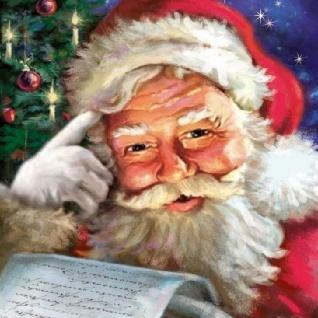 Ambiente Servietten REMEMBER SANTA Weihnachtsmann Weihnachten 20 Stk 33x33