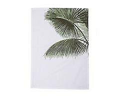 Bloomingville Geschirrtuch Aruba weiß mit Palme Baumwolle 50x70 cm