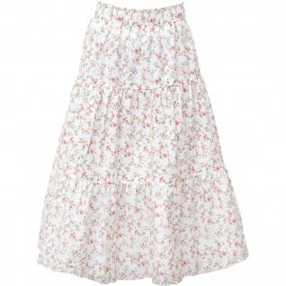 Greengate Rock CARLY Weiß Blumen Small Damenrock Baumwolle Größe XS-S