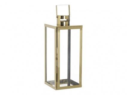 A Simple Mess Laterne SKARV Edelstahl GOLD 45cm Gartenlaterne Windlicht Metall