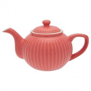Greengate Teekanne ALICE Coral Kanne 1 Liter Everyday Geschirr Teapot