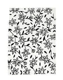 Bloomingville Geschirrtuch HANNAH weiß schwarz Blumen Geschirrhandtuch