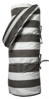 AU Maison Picknickdecke XL 140x180 Streifen Weiß Schwarz wasserfest mit Inlet