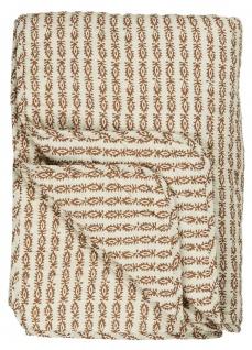 IB Laursen QUILT INDIAN FLOWER Rost Braun Decke Tagesdecke Bettüberwurf 130x180