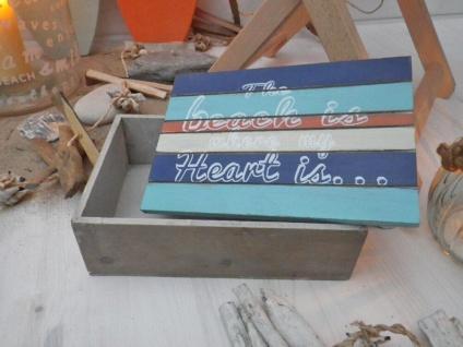 Holzbox Surfin' klein mit Deckel. Coole Box. Holz. Sonne. Strand. Meer. Surfing