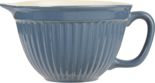 IB Laursen MYNTE Rührschüssel BLAU Keramik Geschirr CORNFLOWER 1700 ml Schale