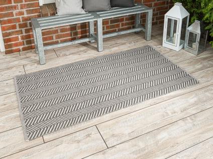 PAD Outdoor Teppich HARRY Grau 92x172 Fussmatte Matte Concept Badematte