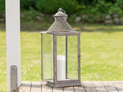 Laterne Celine 69 Cm Gartenlaterne Metall Windlicht Vintage Antik