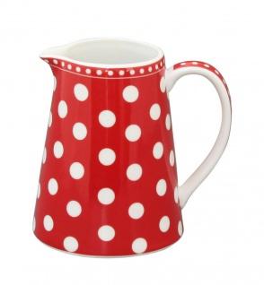 Krasilnikoff Milchkännchen PUNKTE Rot Porzellan Sahnekännchen rot weiß gepunktet