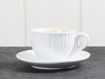 IB Laursen MYNTE Espresso Tasse Weiß mit Untertasse PURE WHITE Keramik Geschirr