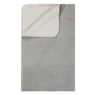 pad concept Wolldecke Hobart hellgrau natur Decke grau Wohndecke Kuscheldecke