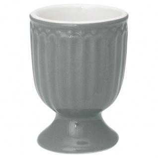 Greengate Eierbecher ALICE Grau 6.5 cm Keramik Everyday Geschirr STONE GREY