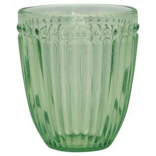 Greengate Glas ALICE PALE GREEN Grün Wasserglas 300 ml Trinkglas Saftglas