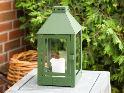 A2 Living Allwetter Laterne Metall Mini Grün rostfrei 34 cm Gartenlaterne