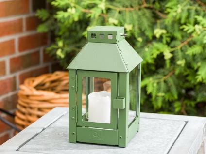 A2 Living Allwetter Laterne Metall Micro Grün rostfrei 25 cm Gartenlaterne