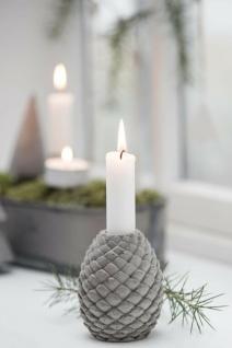 IB Laursen Kerzenhalter ZAPFEN Grau Tannenzapfen Kerzenständer Beton Weihnachten