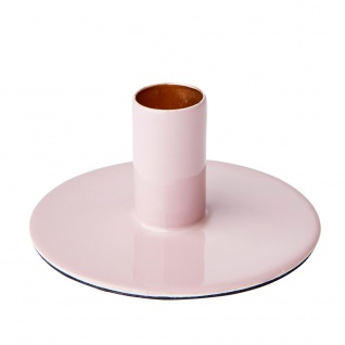 Affari Kerzenhalter RIVER Rosa Metall Kerzenständer Rund für 1 Kerze
