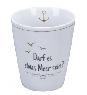 Krasilnikoff Becher Happy Mug DARF ES ETWAS MEER SEIN Kaffeebecher 250 ml Tasse