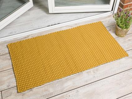PAD Outdoor Teppich UNI GELB 72x132 Matte Fussmatte Pad Concept Design Badematte